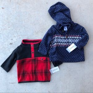 Carter's Size 3 Months NWT Winter Sweatshirts
